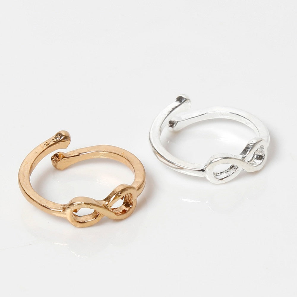 Infinity Simple Sliver Golden Plated Retro Toe Ring