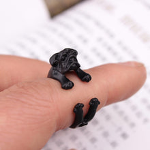 Load image into Gallery viewer, Pug Dog Adjustable Ring