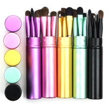 Load image into Gallery viewer, 5 Piece Travel Makeup Brush Set