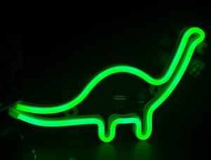 TONGER Neon Sign Light dinosaur Shape Design Room Wall Decorations Home Love Ornament Coffee Bar Mural Crafts Home Decor Lamp