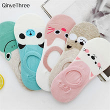 Load image into Gallery viewer, Small Animal Cartoon Short 100% Cotton Boat Socks Breathable Sock