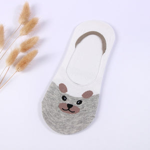 Small Animal Cartoon Short 100% Cotton Boat Socks Breathable Sock