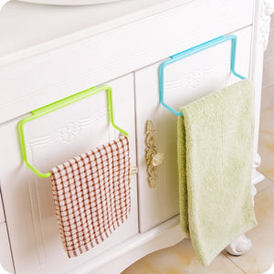 Cabinet Door Towel Rack In Fun Colors