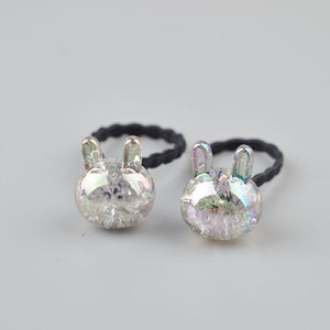 2 pieces Bunny, Star, Princess Sparking Elastic Hair Bands