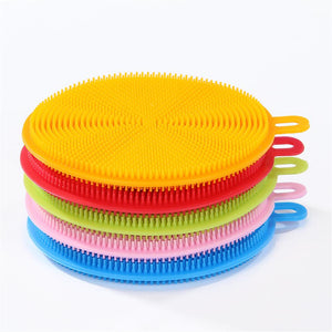 Silicone Dish Washing Brush Bowl Pot Pan Wash Cleaning Brushes Cooking Tool Cleaner Sponges Scouring Pads magic cleaner