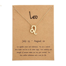 Load image into Gallery viewer, Zodiac Pendant Necklace With Birthday Card! (all signs available)