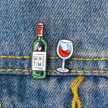 Load image into Gallery viewer, 🍾🍷Wine Time Mini Wine And Wine Glasses Enamel Pins🍷🍾