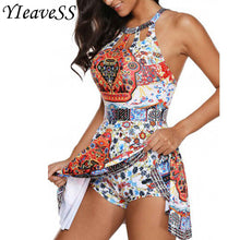 Load image into Gallery viewer, All Over Printed 2 Piece Tankini in Sizes S--5XL