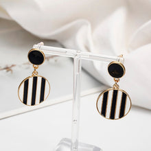 Load image into Gallery viewer, Striped Drop Stud Earrings