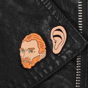 Van Gogh And His Ear Metal Enamel Pins