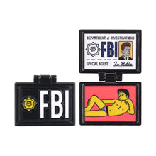 Load image into Gallery viewer, Simpsons X-Files Fox Mulder ID Card Enamel Pin