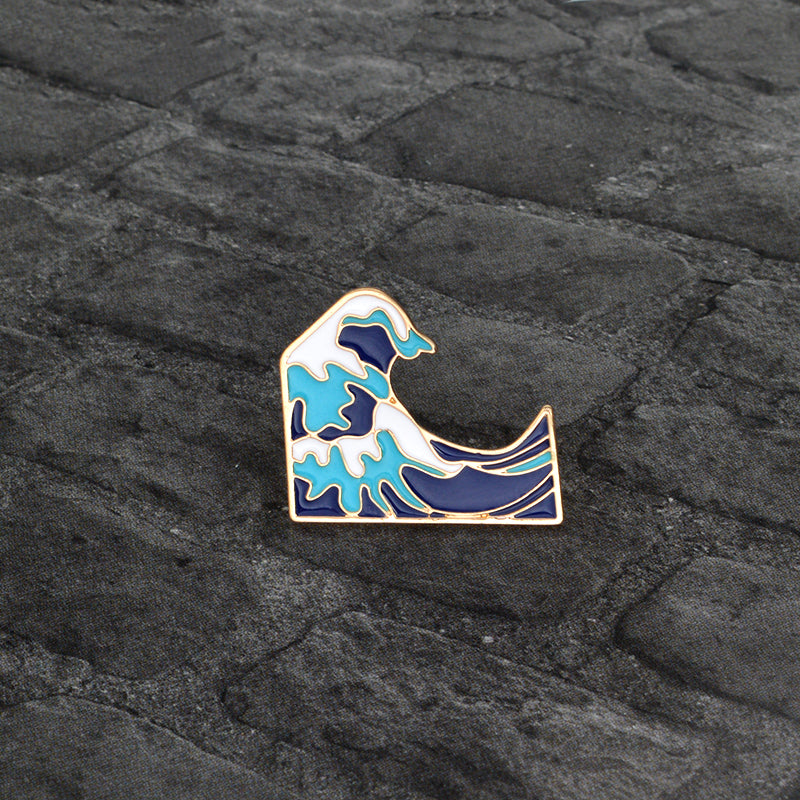 Welcome Gift:  🌊It's the Wave Emoji, but it's ALSO A Very Cool Pin!🌊
