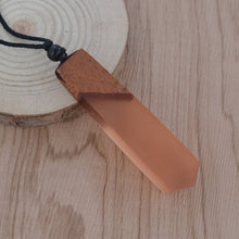 Load image into Gallery viewer, Wood & Resin Pendant Necklace