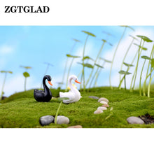 Load image into Gallery viewer, Miniature Black or White Swan Figurine