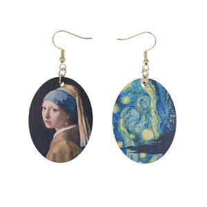 Girl With Pearl Earring and Starry Night Earrings