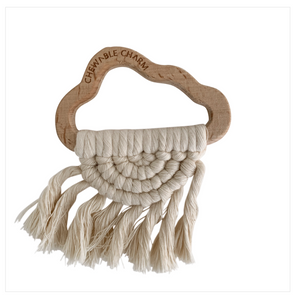 Cloud Macrame Teether- Cream
