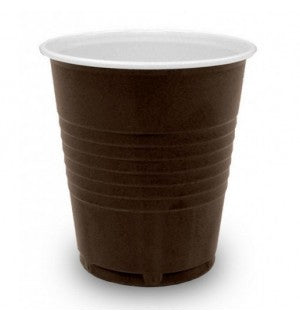 7 oz Brown Heavy Duty Squat Plastic Vending Cups (2000) - Coffee Seller