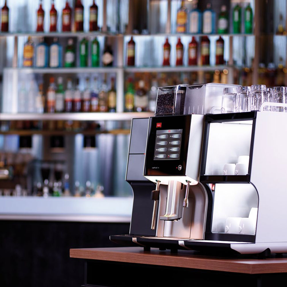 Melitta XT6 Coffee Machine on a bar
