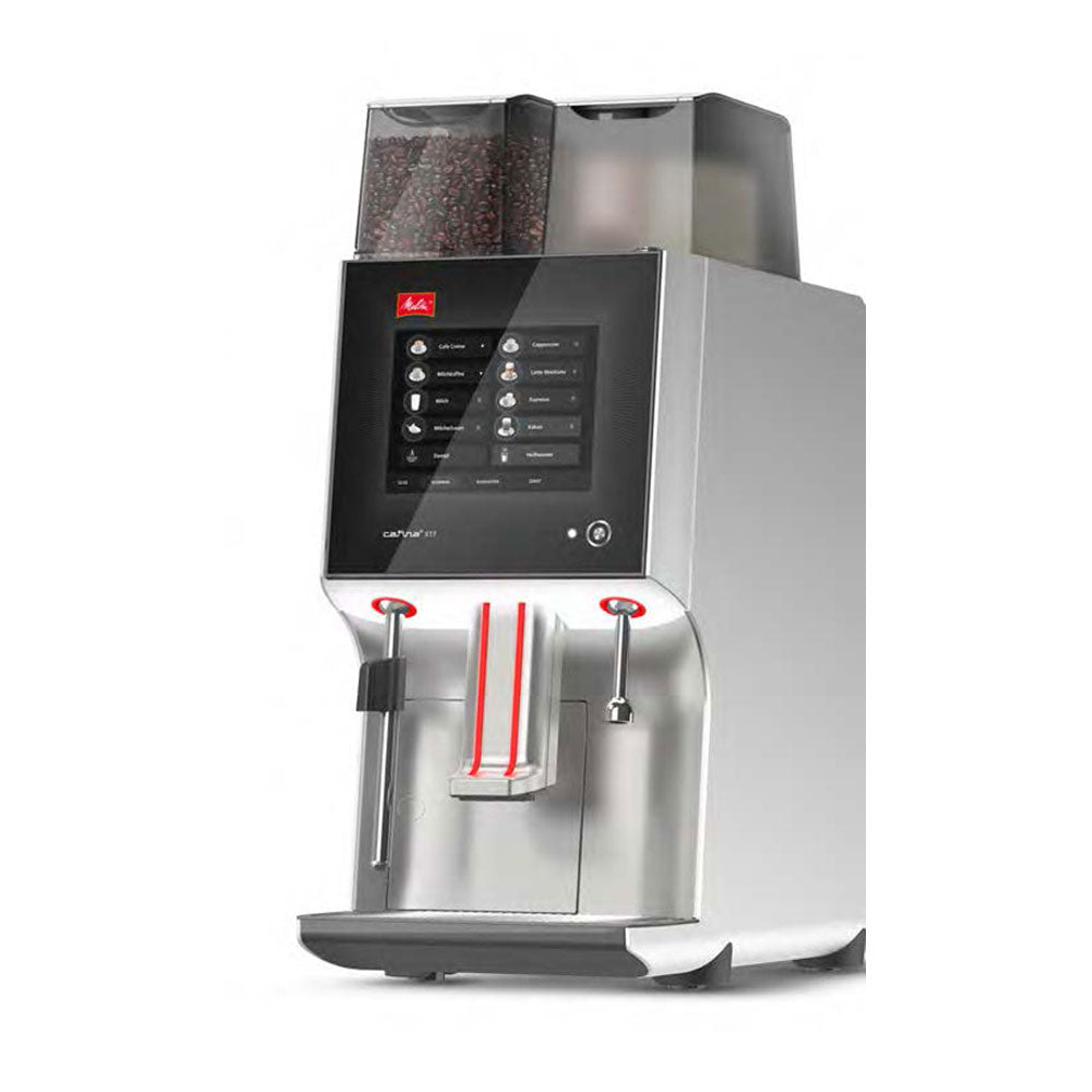 Side View of Melitta Cafina XT7 Bean To Cup Coffee Machine