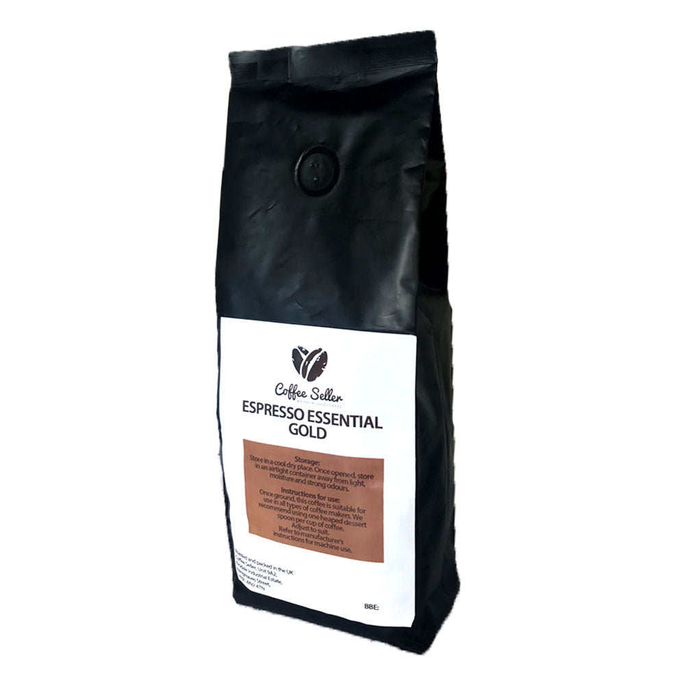 Bag of Coffee Seller Espresso Essentials Gold Coffee Beans
