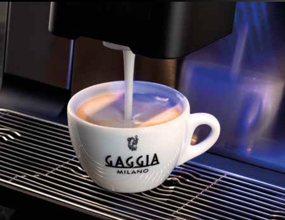 Coffee in a Gaggia cup