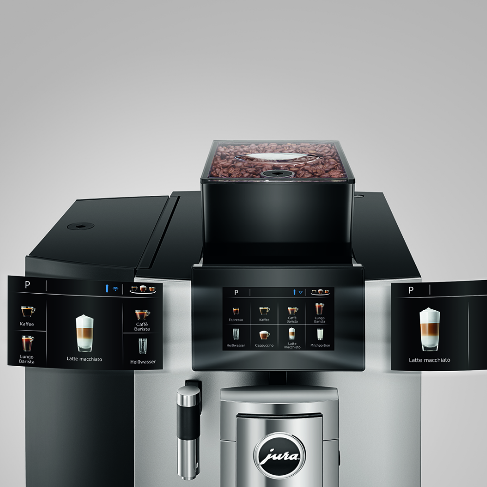 JURA X10 Bean to cup coffee machine close up
