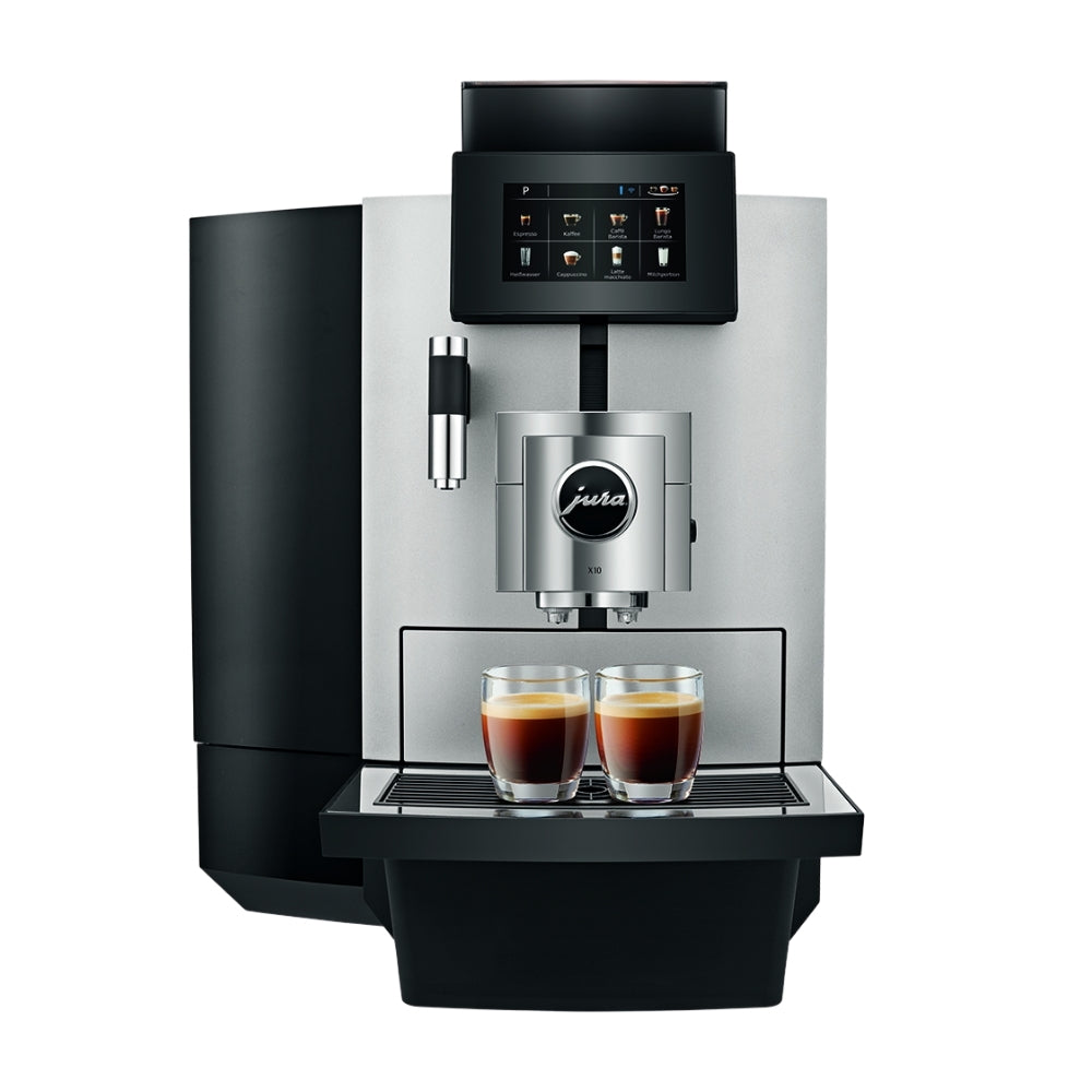 JURA X10 Bean to cup coffee machine side