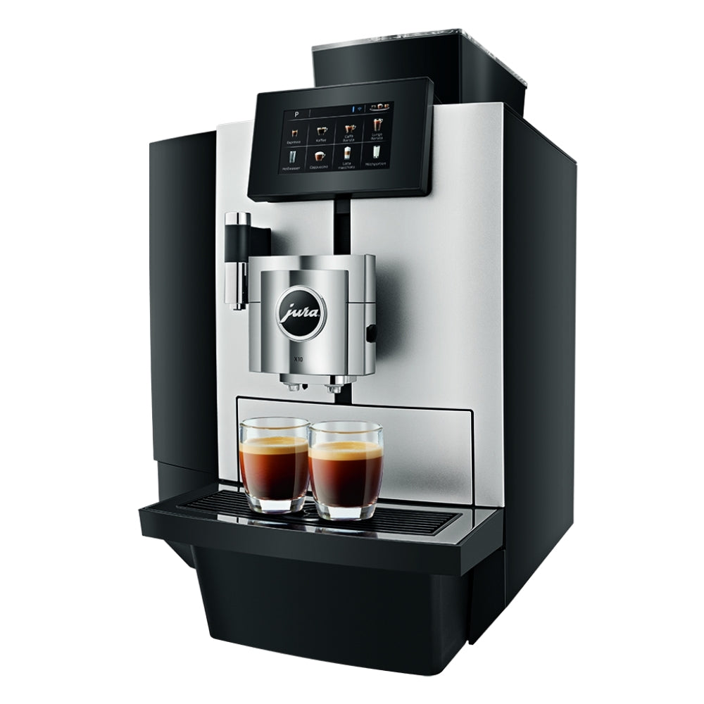 JURA X10 Bean to cup coffee machine front