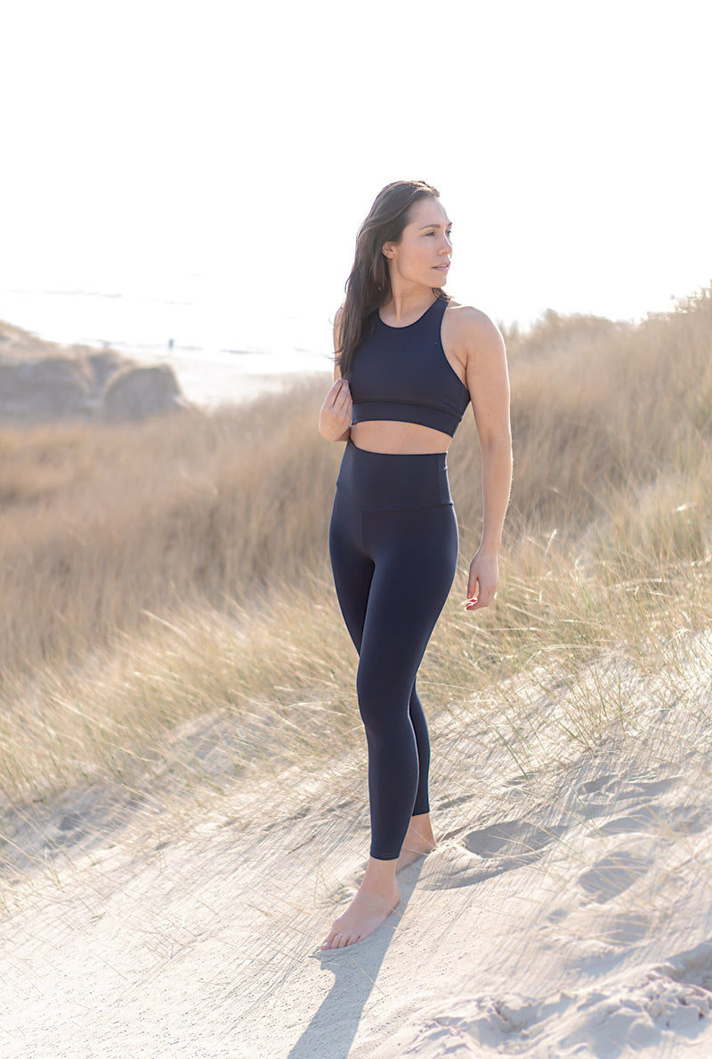 Yoga Tights Navy Blå