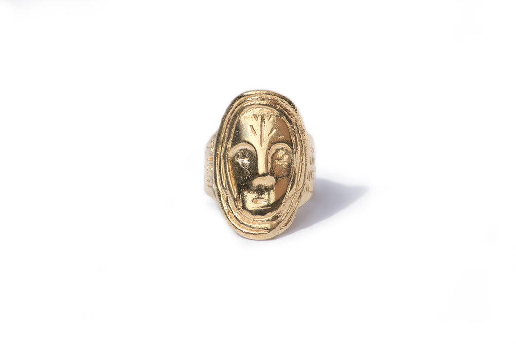Yoro Ring - African mask ring inspired by 18th and 19th century tribal art