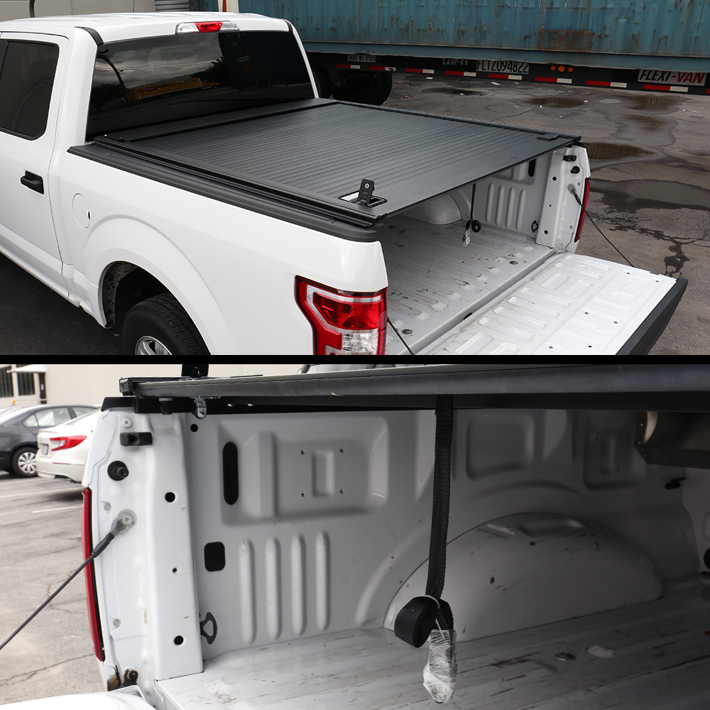 Ford F 150 Retractable Tonneau Cover Hard 2004 2019 6 5ft Bed Jcwin Auto