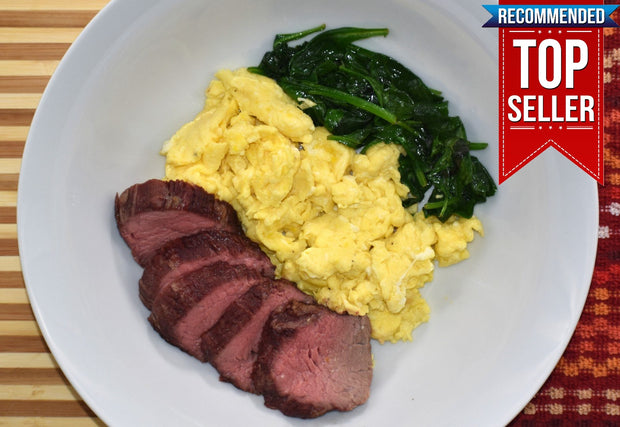 Steak and Eggs with Baby Spinach