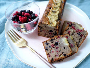 直播課程: 芬蘭雜莓快速麵包 (無酵母)(包郵) Gluten-free Vegan Mixed Berries Quickbread Class (Free Delivery)