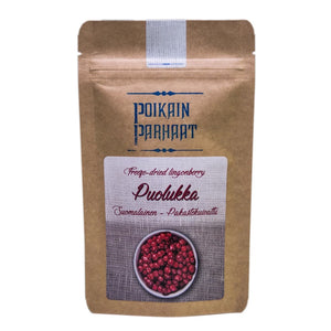 Poikain Parhaat Freeze-dried Lingonberry 芬蘭原粒凍乾越橘 15g