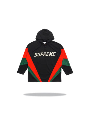 Supreme Hooded Hockey Jersey Black