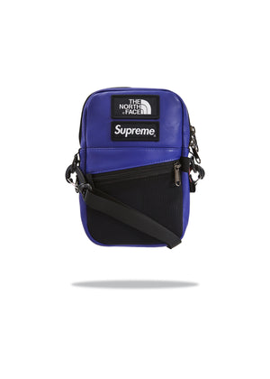 Supreme x TNF Shoulder Bag Leather Purple