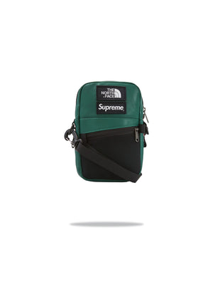 Supreme x TNF Shoulder Bag Leather Green
