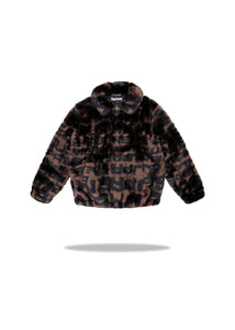 Supreme Faux Fur Repeater Bomber Brown