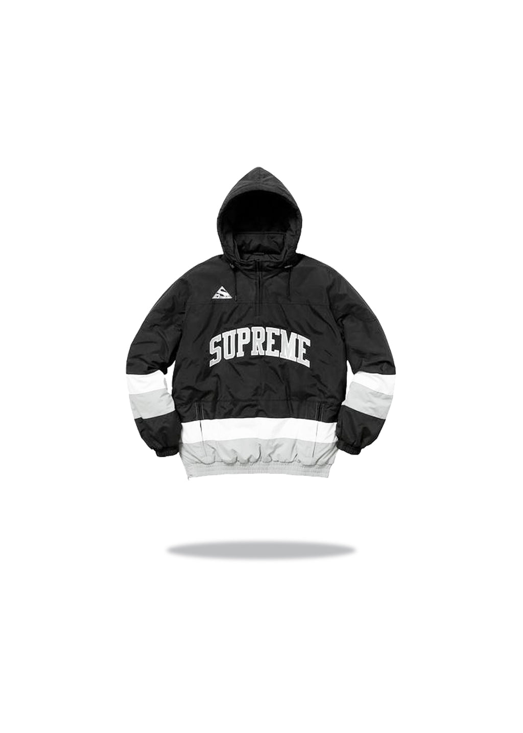 Supreme Puffy Hockey Jacket Black Grey