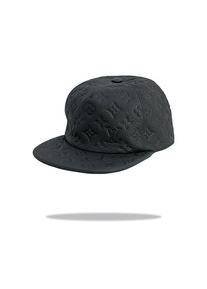 Louis Vuitton x Virgil Abloh SS19 Black Leather Hat