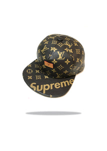 Louis Vuitton x Supreme Brown Leather Hat