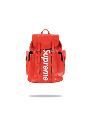 Louis Vuitton x Supreme Red Christopher Backpack
