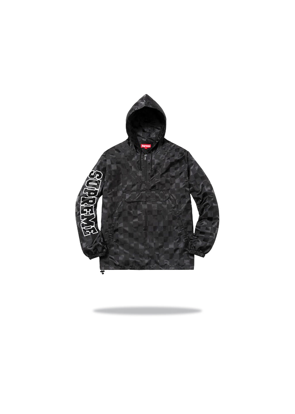 Supreme Checkered Nylon Pullover Black