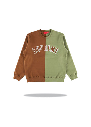 Supreme Split Crewneck Brown