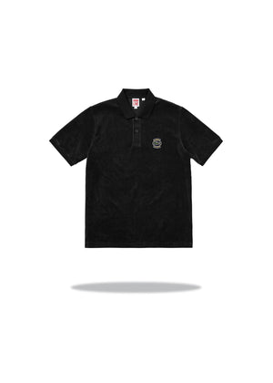 Supreme LACOSTE Polo Velour Black
