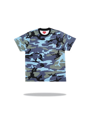 Supreme SS Pocket Tee Blue Camo