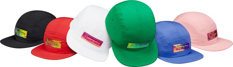 Supreme Iridescent Logo Camp Cap
