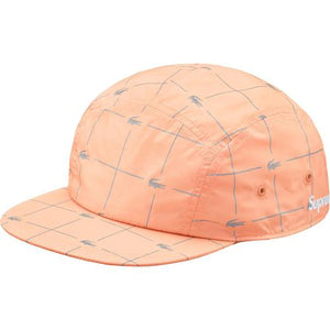 Supreme LACOSTE Reflective Grid Nylon Camp Cap