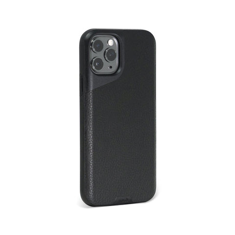 Funda de piel negra Tough iPhone 11 Pro