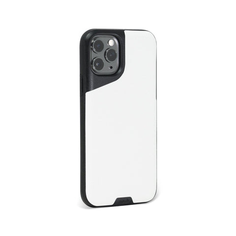 White Leather Tough iPhone 11 Pro Case